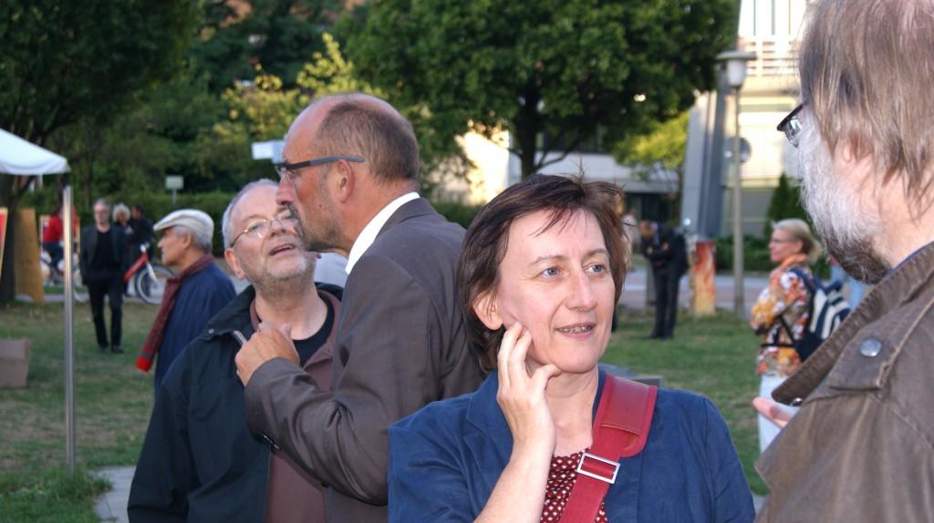 An der Dialogbox mit Detlef Scheehle und Manuela Schwesig
